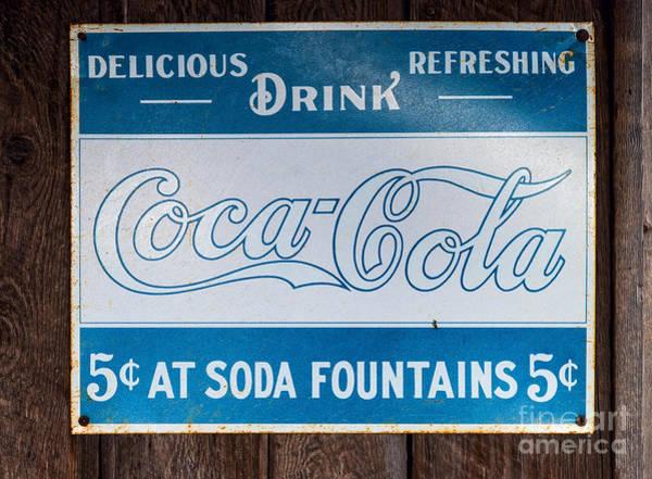 Photograph - Vintage Coca Cola Ad by Les Palenik