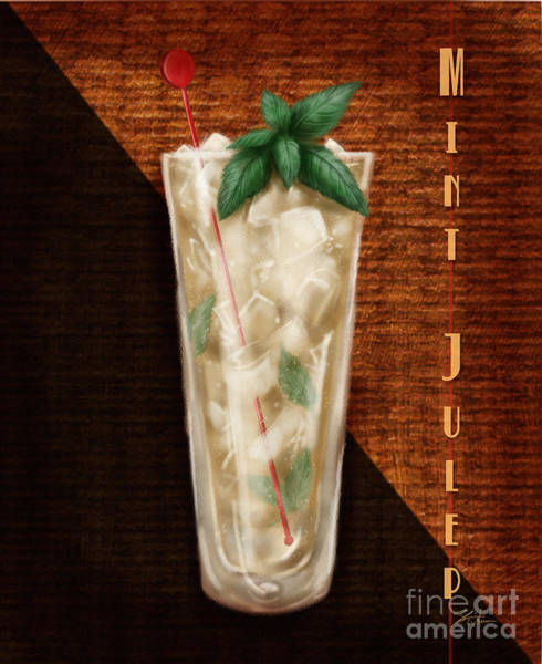 Mixed Media - Vintage Cocktails-mint Julep by Shari Warren