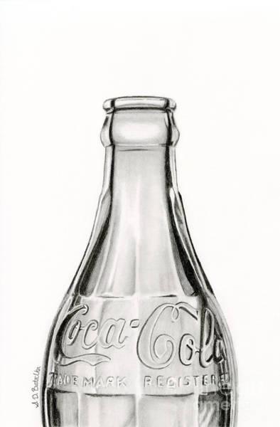 Wall Art - Drawing - Vintage Coke Bottle Drawing by Sarah Batalka