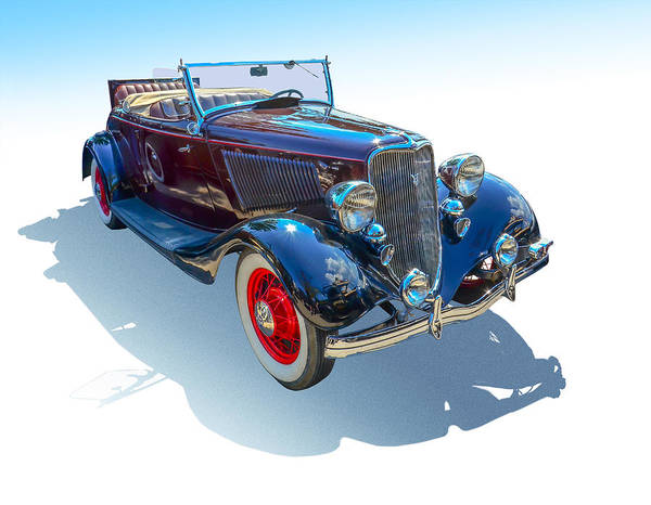 Auto Show Photograph - Vintage Convertible by Gianfranco Weiss
