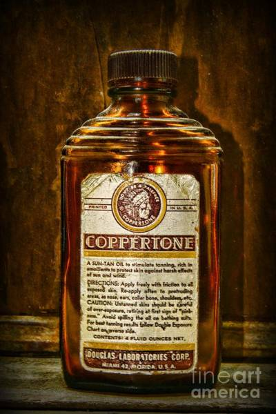 Wall Art - Photograph - Vintage Coppertone Bottle by Paul Ward