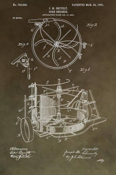 Wall Art - Mixed Media - Vintage Corn Shocker Patent by Dan Sproul