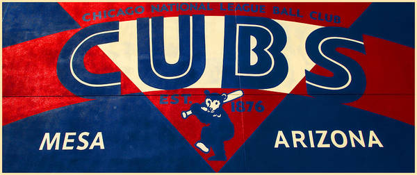 Wall Art - Photograph - Vintage Cubs Spring Training Sign by Stephen Stookey