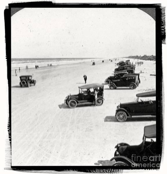 Daytona Photograph - Vintage Daytona Beach Florida by Edward Fielding