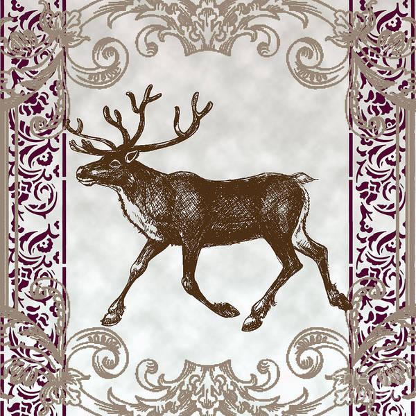 River Scene Mixed Media - Vintage Deer Artowrk by Art World