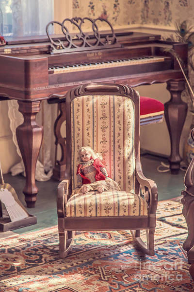 Doll House Photograph - Vintage Doll In Parlor by Edward Fielding
