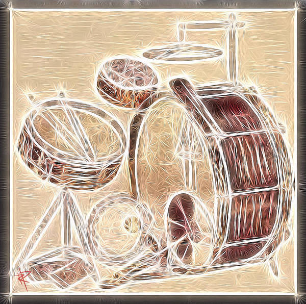 Wall Art - Mixed Media - Vintage Drums by Russell Pierce