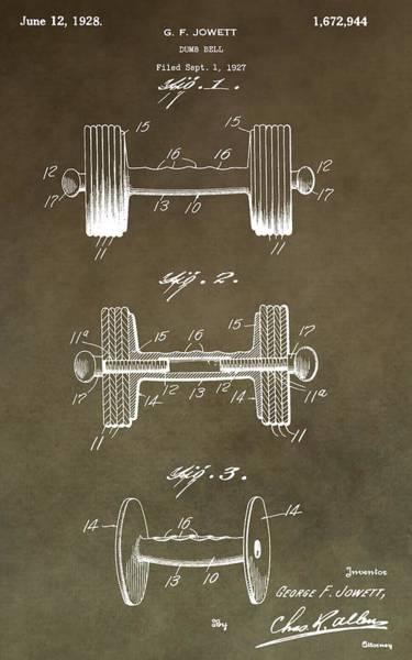 Digital Art - Vintage Dumbbell Patent by Dan Sproul