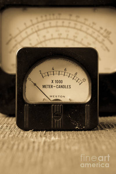 Photograph - Vintage Electrical Meters by Edward Fielding