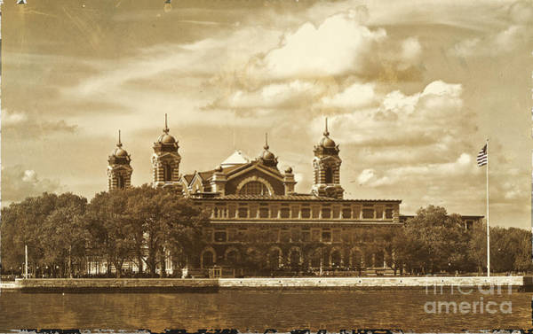 Photograph - Vintage Ellis Island by Eleanor Abramson