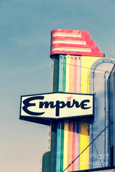 Wall Art - Photograph - Vintage Empire Theater Sign by Edward Fielding