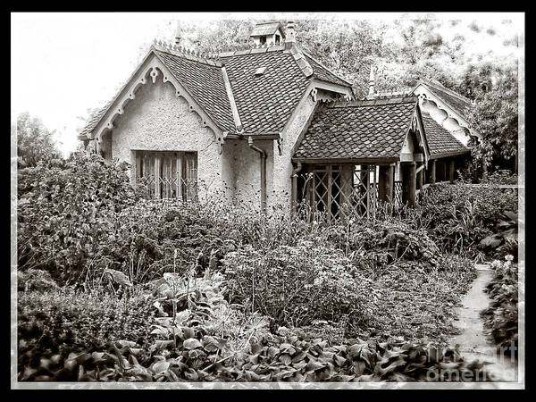 English Garden Photograph - Vintage English Cottage Garden by Edward Fielding