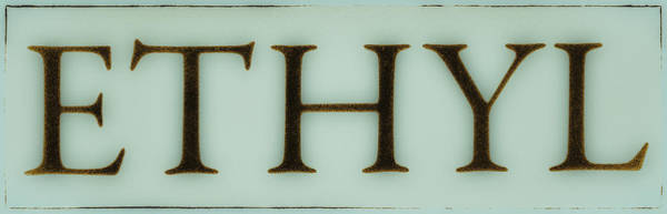 Wall Art - Photograph - Vintage Ethyl Gas Sign Blue by Tony Grider