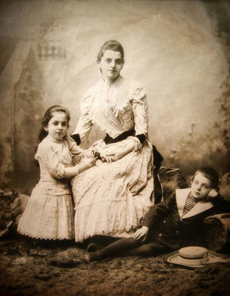 Photograph - Vintage Family Portrait by Jessica Jenney