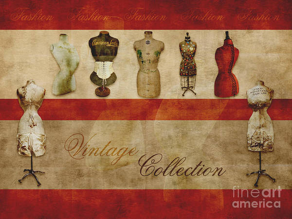 Mannequins Photograph - Vintage Fashion Mannequins - 02t by Variance Collections