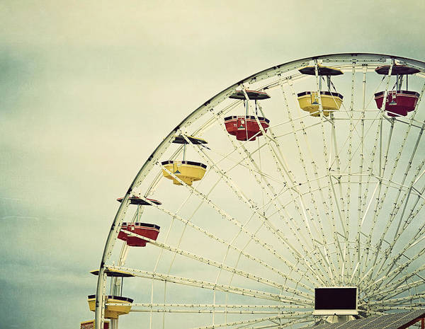 Fairground Photograph - Vintage Ferris Wheel by Kim Hojnacki