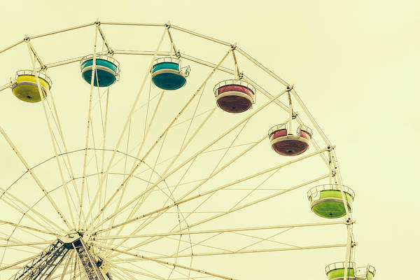 Wall Art - Photograph - Vintage Ferris Wheel by Pati Photography