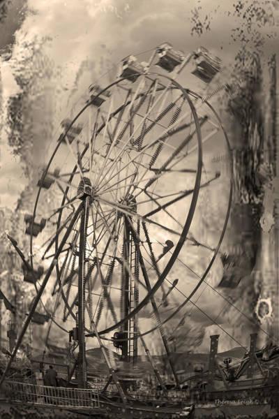 Carnies Photograph - Vintage Ferris Wheel by Theresa Tahara
