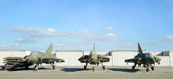 Wall Art - Photograph - Vintage Figher Jets by Fraida Gutovich