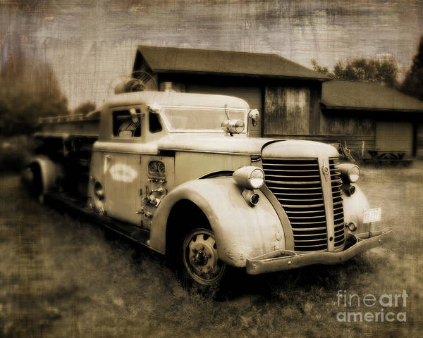 Wall Art - Photograph - Vintage Fire Truck by Perry Webster