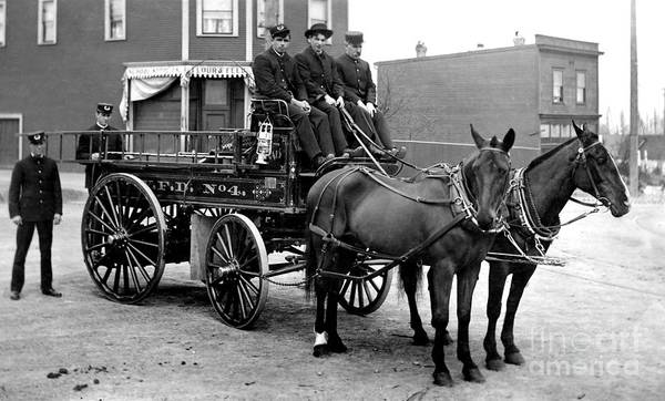 Fire Department Photograph - Vintage Fire Wagon by Jon Neidert