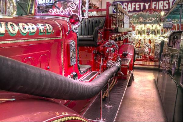 Wall Art - Photograph - Vintage Firetruck Safety First by Jane Linders