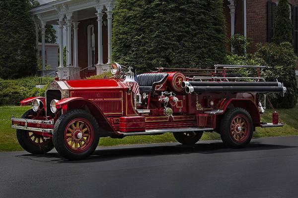 Photograph - Vintage Firetruck by Susan Candelario