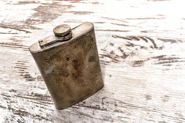 Flask Wall Art - Photograph - Vintage Flask by Olivier Le Queinec