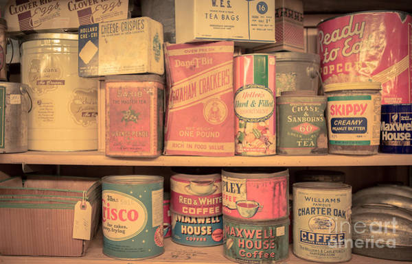 Wall Art - Photograph - Vintage Food Pantry by Edward Fielding