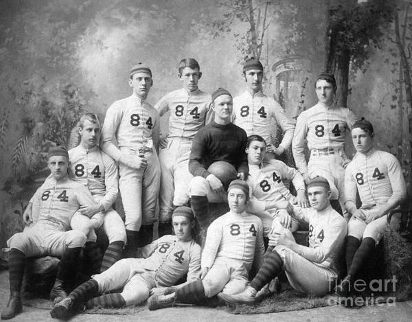 Football Photograph - Vintage Football Circa 1900 by Jon Neidert