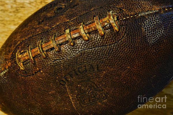 Cowhide Wall Art - Photograph - Vintage Football by Paul Ward