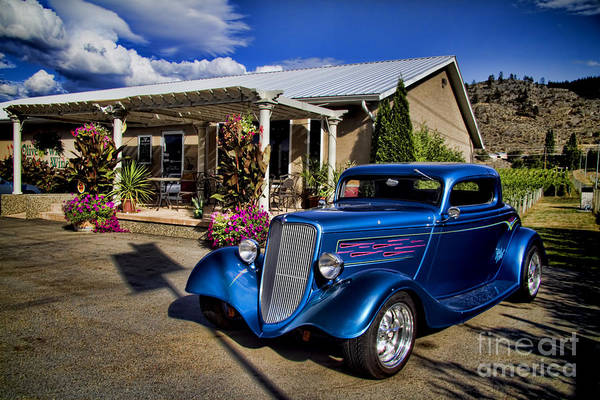 Wine Barrels Photograph - Vintage Ford Coupe At Oliver Twist Winery by David Smith