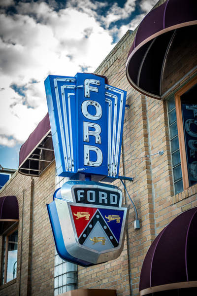 Wall Art - Photograph - Vintage Ford Sign by Paul Freidlund