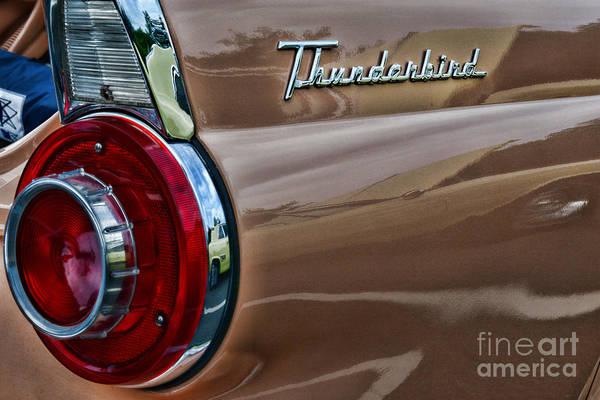 1956 Ford Thunderbird Photograph - Vintage Ford Thunderbird by Paul Ward