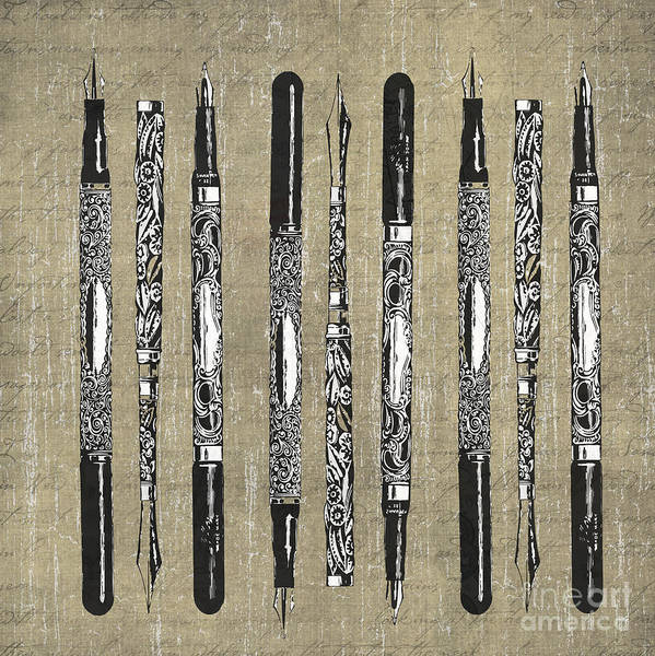 Photograph - Vintage French Pens Square Format by Edward Fielding