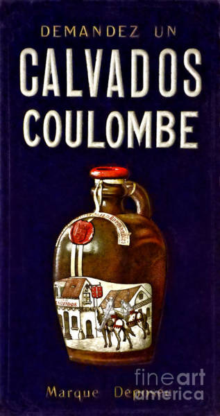 Tin Sign Photograph - Vintage French Poster Calvados Coulombe by Olivier Le Queinec