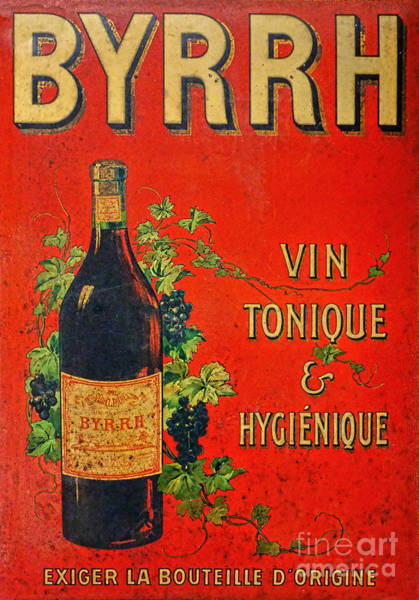 Tin Sign Photograph - Vintage French Tin Sign Byrrh by Olivier Le Queinec