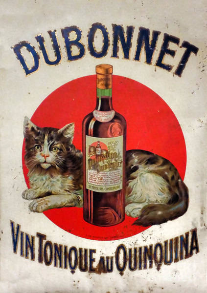 Tin Sign Photograph - Vintage French Tin Sign Dubonnet by Olivier Le Queinec