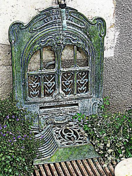 Photograph - Vintage Garden Grate by HEVi FineArt