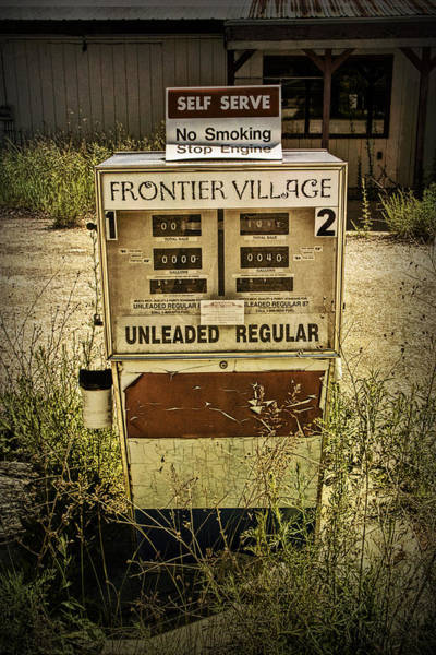 Photograph - Vintage Gas Pump At An Abandoned Filling Station by Randall Nyhof