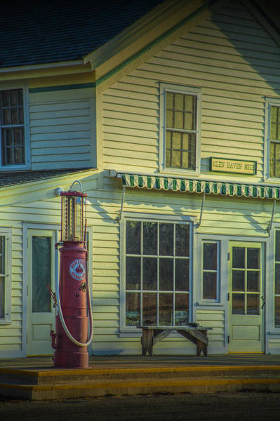 Photograph - Vintage Gasoline Pump In Glen Haven by Randall Nyhof
