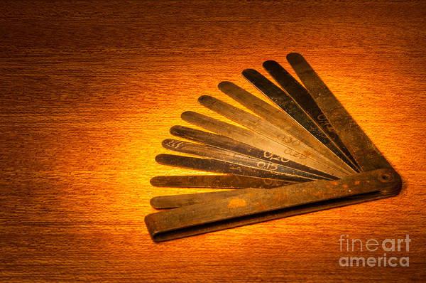Photograph - Vintage Gauge For Measuring Spark Plug Gaps by Les Palenik