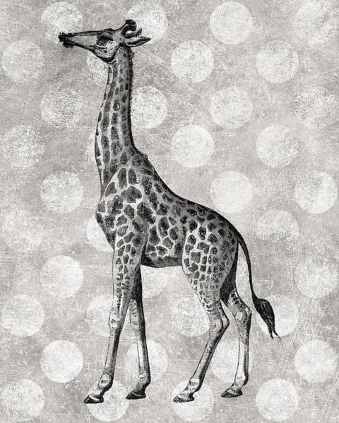 Wall Art - Digital Art - Gray Giraffe by Flo Karp