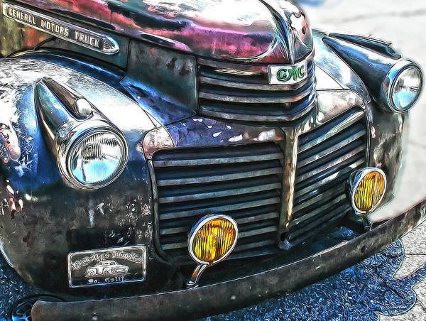 Photograph - Vintage Gm Truck Hdr 2 Grill Art by Lesa Fine