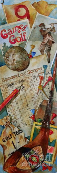 Wall Art - Painting - Vintage Golf Montage  by Sherri Crabtree