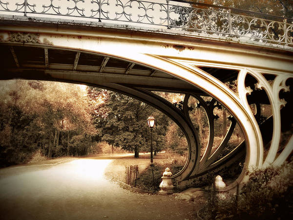 Photograph - Vintage Gothic Bridge by Jessica Jenney