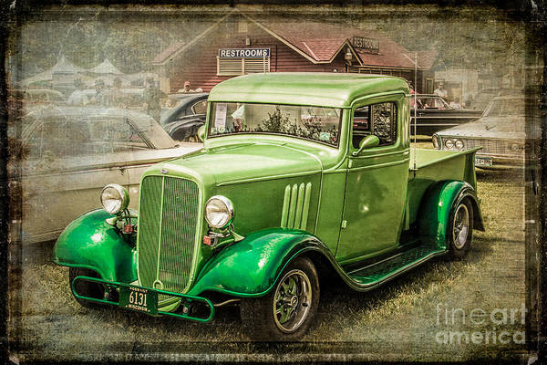 Wall Art - Photograph - Vintage Green Pickup by Perry Webster