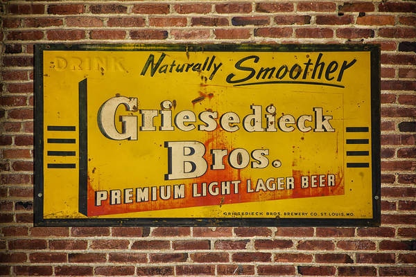 Man Cave Photograph - Vintage Griesedieck Bros Beer Dsc07192 by Greg Kluempers