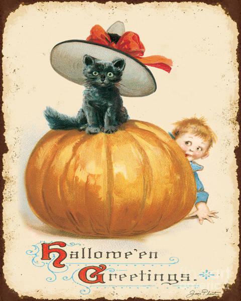 Wall Art - Digital Art - Vintage Halloween-g by Jean Plout