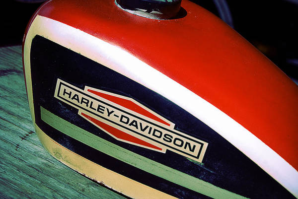 Photograph - Vintage Harley Davidson Gas Tank by Beverly Stapleton